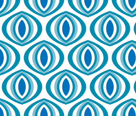 Ole Blue Eyes fabric by pixeldust on Spoonflower - custom fabric