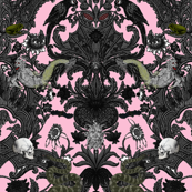 This Is Halloween! Haunted House Damask ~ Pale Pink