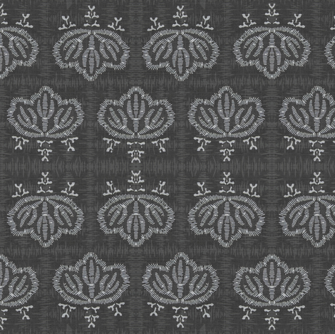 kiri squared - charcoal & ash fabric by materialsgirl on Spoonflower - custom fabric