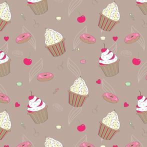 Cupcake and cherry