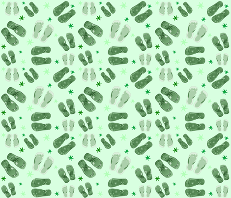 MINT GREEN THONGS fabric by bluevelvet on Spoonflower - custom fabric