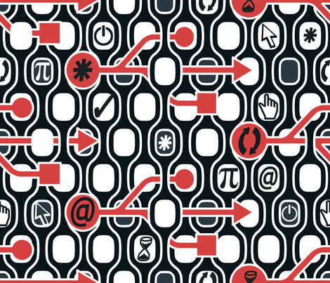 Geek Chic Spirit Big fabric by chicca_besso on Spoonflower - custom fabric