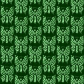 ButterflyDancer - med - deep fir & mint green reverse