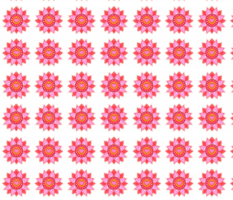 Florecitas rosadas fabric by lita_blanc on Spoonflower - custom fabric