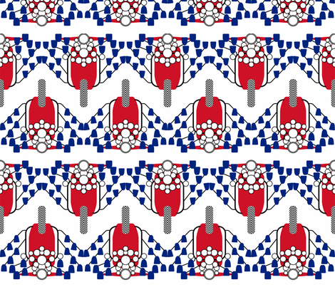 Red White & Blue Mod Scooter fabric by candyjoyce on Spoonflower - custom fabric