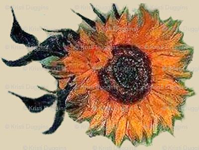 Sunflowers on Cream | Van Gogh by BohoBear