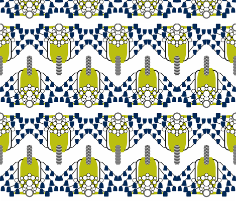 Green and Blue Mod Scooters fabric by candyjoyce on Spoonflower - custom fabric