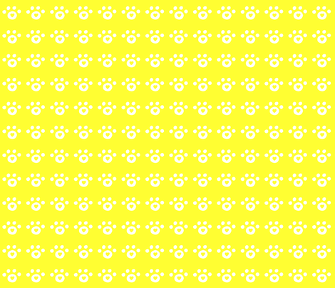 yellow_heart_paw_print fabric by free_spirit_designs on Spoonflower - custom fabric