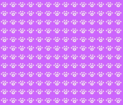 purple_heart_paw_print fabric by free_spirit_designs on Spoonflower - custom fabric