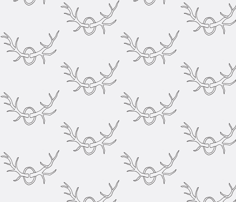 Antlers on White fabric by redhange on Spoonflower - custom fabric