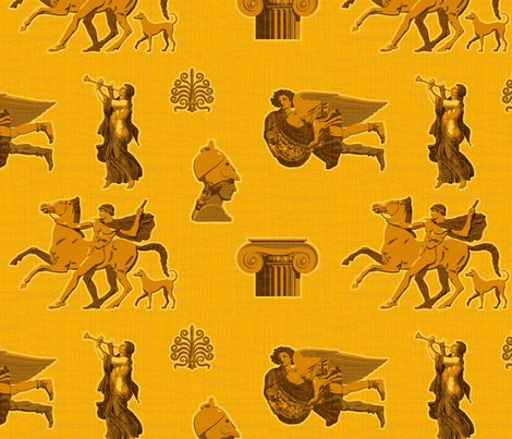 Greek Antiquities 1b fabric by muhlenkott on Spoonflower - custom fabric