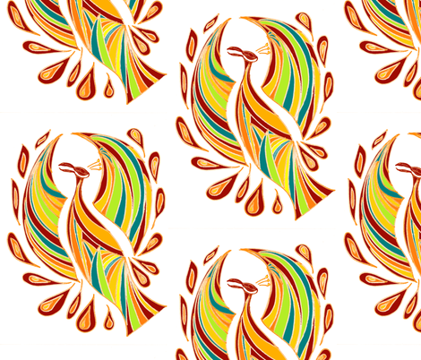 phoenix1 fabric by 11elevenxo on Spoonflower - custom fabric