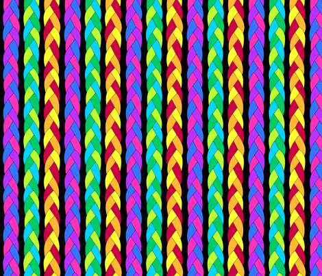 Rainbow braid fabric by blondfish on Spoonflower - custom fabric