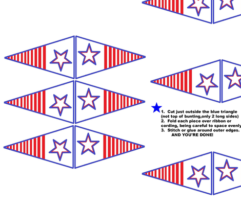 rwb_bunting_lg fabric by vos_designs on Spoonflower - custom fabric