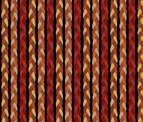 Leather braid fabric by blondfish on Spoonflower - custom fabric