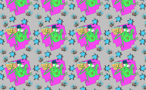 Hip Hop Frog fabric by rhinestonecowgirl on Spoonflower - custom fabric