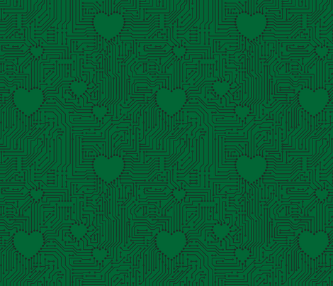 geekgreen2 fabric by leopardessmoon on Spoonflower - custom fabric