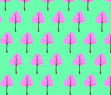 Pink Trees fabric by campbellcreative on Spoonflower - custom fabric
