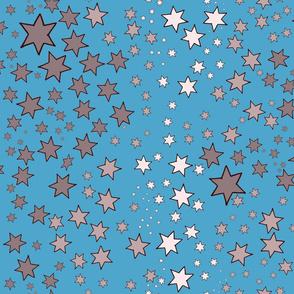 Mucha's Stars Sky Blue
