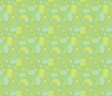 Modern Blocks Green Textured fabric by vinpauld on Spoonflower - custom fabric