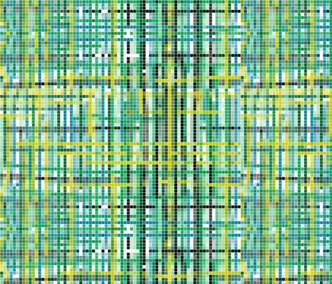 Dinosaur Mosaic - Blue fabric by art_on_fabric on Spoonflower - custom fabric