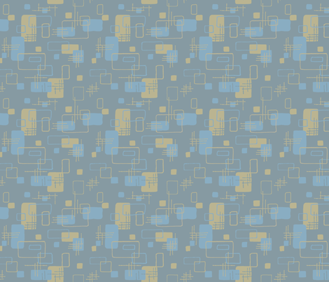 Modern Blocks Steel Gray fabric by vinpauld on Spoonflower - custom fabric