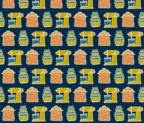 kitchen basics wallpaper fabric by susan_swedien on Spoonflower - custom fabric