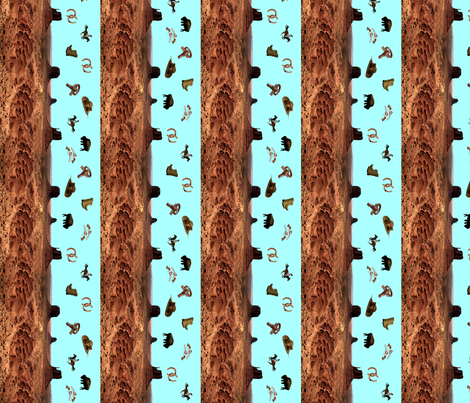 Western Themed (Boy) - Vertical fabric by serendipitymuse on Spoonflower - custom fabric