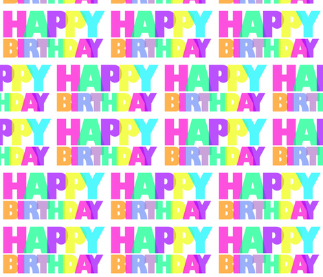 Happy Birthday fabric by popstationery&gifts on Spoonflower - custom fabric