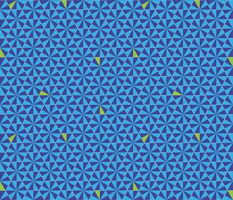Electric Honeycomb-Bongo Blue fabric by hootenannit on Spoonflower - custom fabric