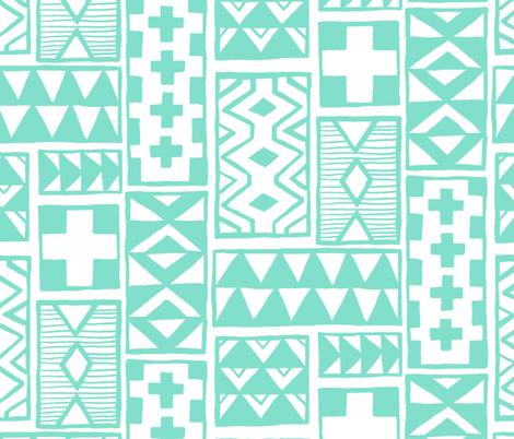 Geoblocks Mint fabric by leanne on Spoonflower - custom fabric