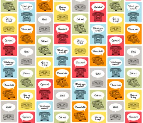 Hotline, Hotline fabric by pennycandy on Spoonflower - custom fabric
