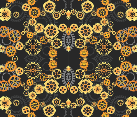Gears fabric by implexity on Spoonflower - custom fabric