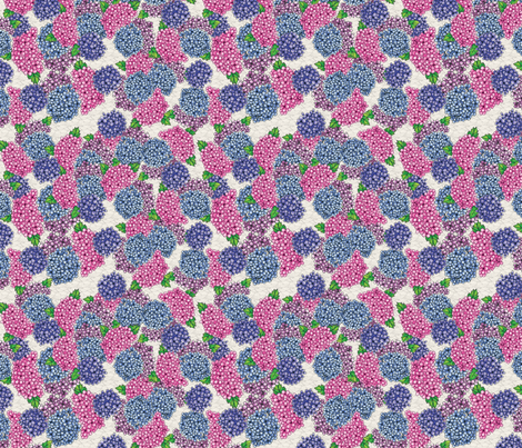 hydrangea fabric by thickblackoutline on Spoonflower - custom fabric