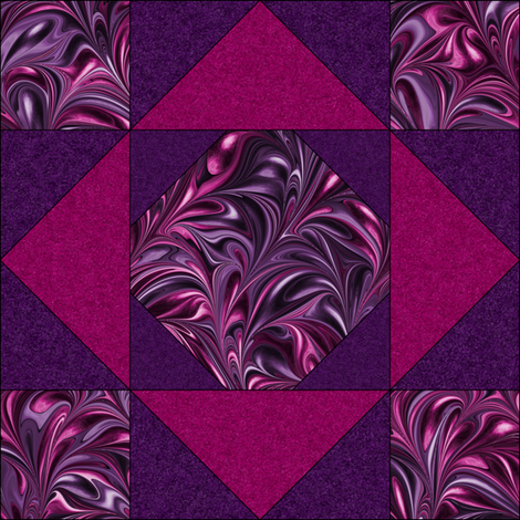 Quilt Block 2-2 fabric by modernmarblingdesign on Spoonflower - custom fabric