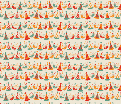 A Little Birdie Told Me... - tweet coordinate fabric by jennartdesigns on Spoonflower - custom fabric