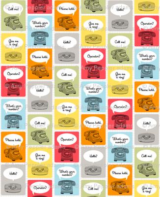 Hotline, Hotline (Grid) || telephone phone retro words phrases speech bubbles