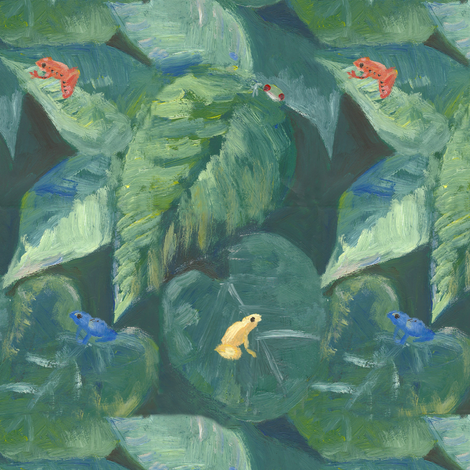 dart frogs in paradise fabric by vonblohn on Spoonflower - custom fabric