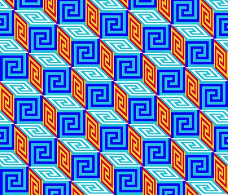 Pandora's Box with Greek Key fabric by elramsay on Spoonflower - custom fabric