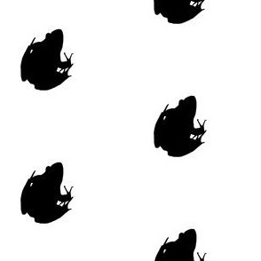 Frogs Silhouette Black
