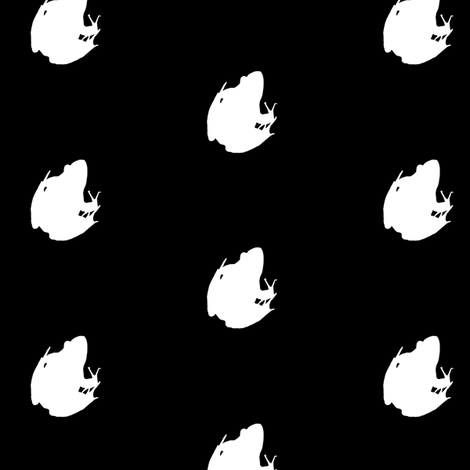 Frogs Silhouette White fabric by animotaxis on Spoonflower - custom fabric