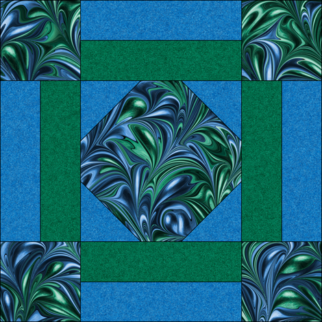Quilt Block 3-1 fabric by modernmarblingdesign on Spoonflower - custom fabric