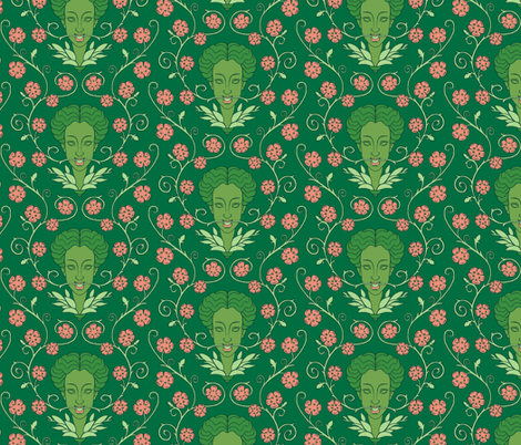 Chloris Green fabric by aimee on Spoonflower - custom fabric
