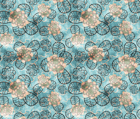 blue 1 fabric by kociara on Spoonflower - custom fabric