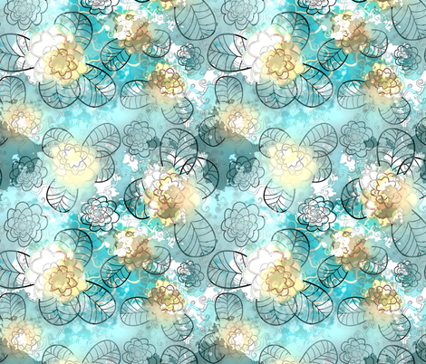 blue 2 fabric by kociara on Spoonflower - custom fabric