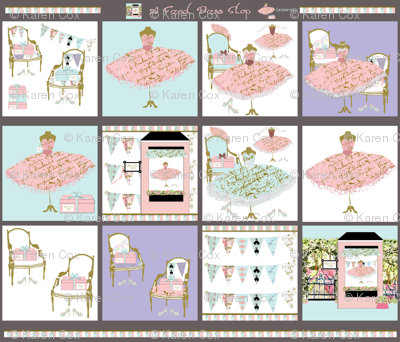 A French Dress Shop charm pack