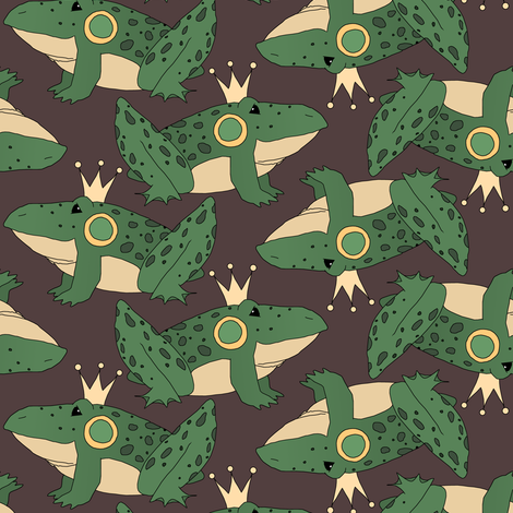 Frog Prince fabric by pond_ripple on Spoonflower - custom fabric