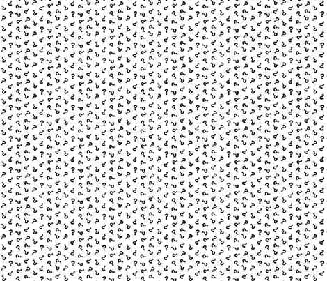 question hooha fabric by darcibeth on Spoonflower - custom fabric