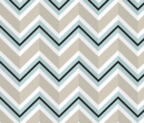 Beach Chevron Stripe fabric by lydiakuekes on Spoonflower - custom fabric