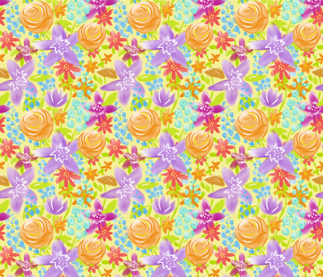 Spring Floral fabric by vinpauld on Spoonflower - custom fabric